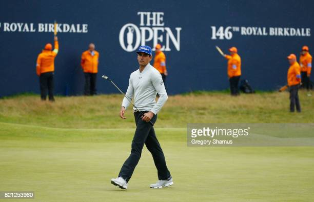 Rafa CabreraBello of Spain walks on the 18th green during the final round of the 146th Open Championship at Royal Birkdale on July 23 2017 in...