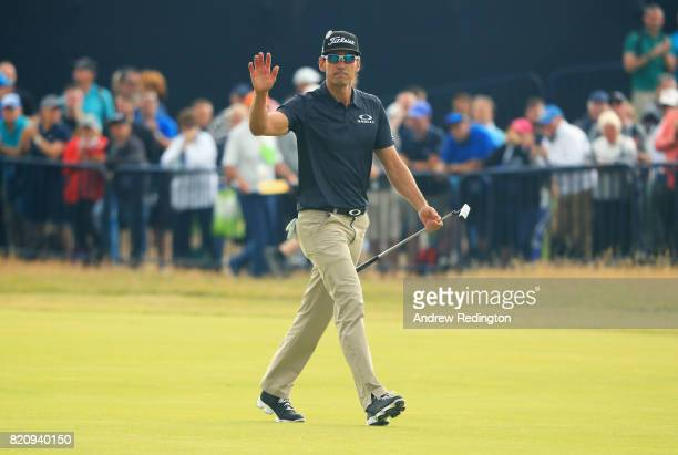 Rafa CabreraBello of Spain walks up the 18th fairway during the third round of the 146th Open Championship at Royal Birkdale on July 22 2017 in...