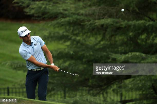 Rafa CabreraBello of SpaRoberto Castro of the United States plays his shot on the seventh hole during the first round of the 2017 PGA Championship at...