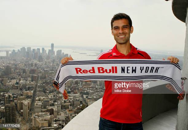 Rafa Marquez of the New York Red Bulls poses for a photo at the Empire State Building on March 23 2012 in New York City