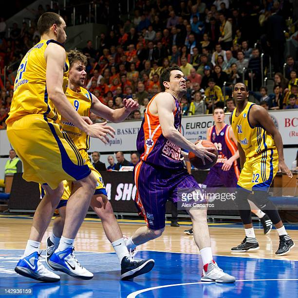 Rafa Martinez of Valencia Basket in action during the 2012 Eurocup Basketball Final Game between BC Khimki Moscow Region v Valencia Basket at...