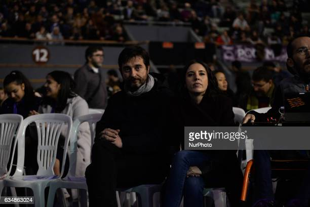 Rafa Mayoral Irene Montero during the second State Congress in Vistalegre Madrid Spain on February 11 2017