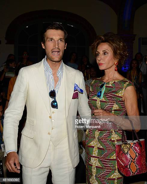Rafa Medina and Naty Abascal attend the latest collection presentation by 'Scalpers' at the 080 Barcelona Fashion Week 2014 on July 4 2014 in...