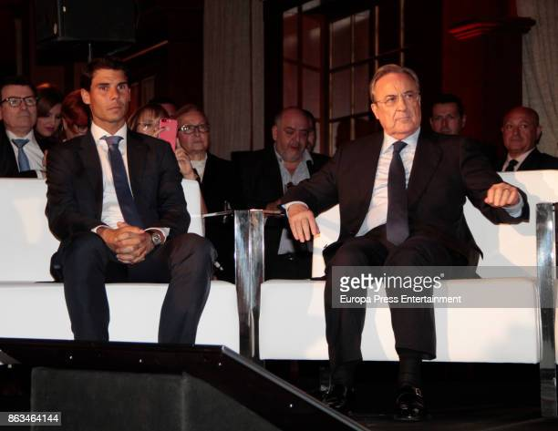 Rafa Nadal and Pedro J Ramirez attend 'Los Leones' Awards 2017 on October 19 2017 in Madrid Spain