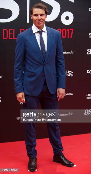 Rafa Nadal attends the 'As del Deporte' and 'As' sports newspaper 50th anniversary dinner at the Palacio de Cibeles on December 4 2017 in Madrid Spain