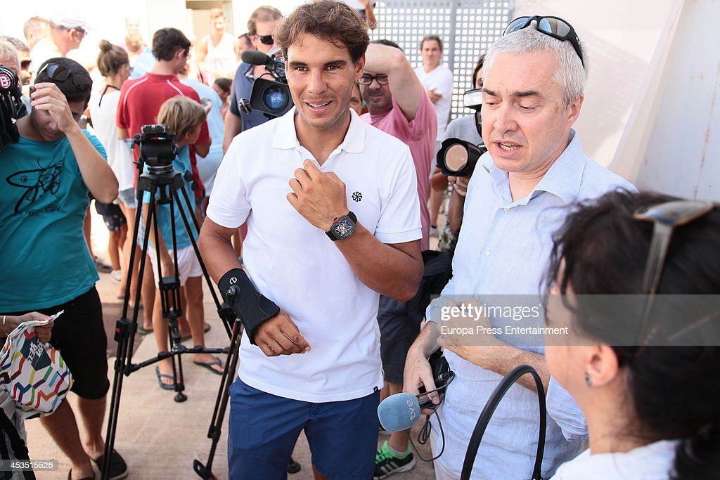 rafa nadal c attends the opening of ucentre tenis u padelu in