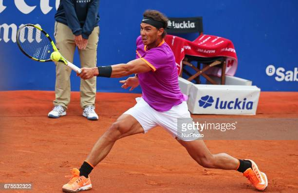 Rafa Nadal during the match against Dominic Thiem corresponding to the Barcelona Open Banc Sabadell on April 30 2017