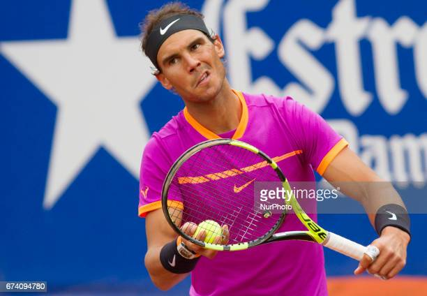 Rafa Nadal during the match against Kevin Anderson in the ATP 500 Open Barcelona Banc de Sabadell in Barcelona on April 27 2017