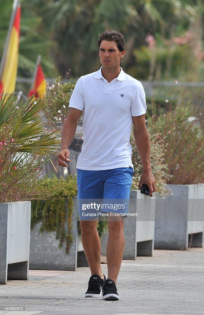 Rafa Nadal is seen on July 7, 2014 in Ibiza, Spain.
