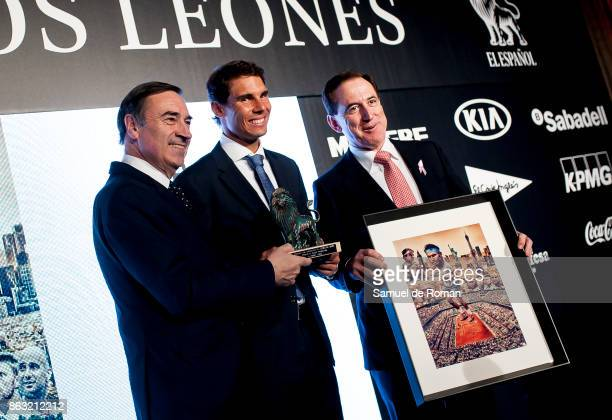 Rafa Nadal receives 'Los Leones' Award 2017 on October 19 2017 in Madrid Spain