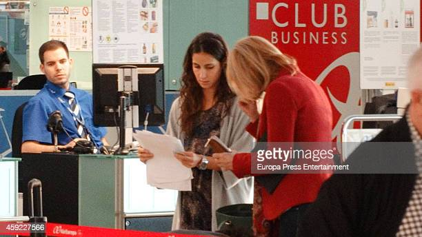 Rafa Nadal's girlfriend Xisca Perello and mother Ana Maria Parera are seen on November 5 2014 in Barcelona Spain