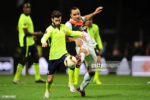 Rafa Silva of SC Braga challenges Ismaily of Shakhtar Donetsk during the UEFA Europa League Quarter Final first leg match between SC Braga and...
