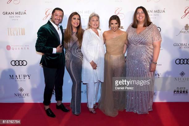 Rafael Amargo Maria Bravo Beatriz de Orleans and Eva Longoria attend the Global Gift Gala 2017 red carpet at Gran Melia Don pepe Resort on July 16...