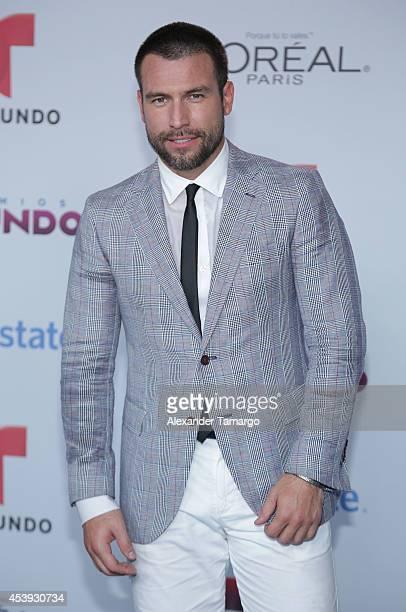 Rafael Amaya arrives at Telemundo's Premios Tu Mundo Awards 2014 at American Airlines Arena on August 21 2014 in Miami Florida