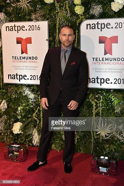 Rafael Amaya attends Telemundo NATPE party on January 19 2016 in Miami Beach Florida