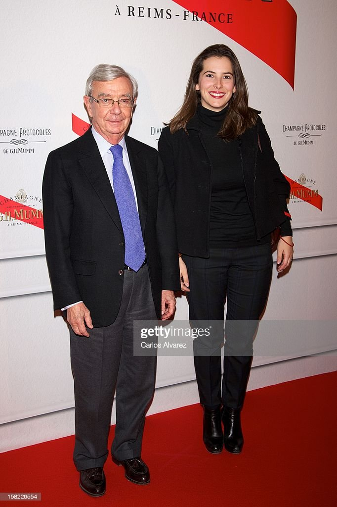 Rafael Anson (L) attends the Maison Mumm inauguration at the Santo Mauro Hotel on December 11, 2012 in Madrid, Spain.