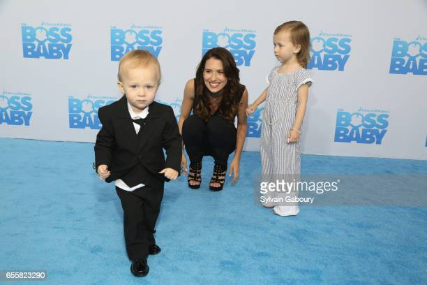 Rafael Baldwin Hilaria Baldwin and Carmen Baldwin attend 'The Boss Baby' New York Premiere on March 20 2017 in New York City