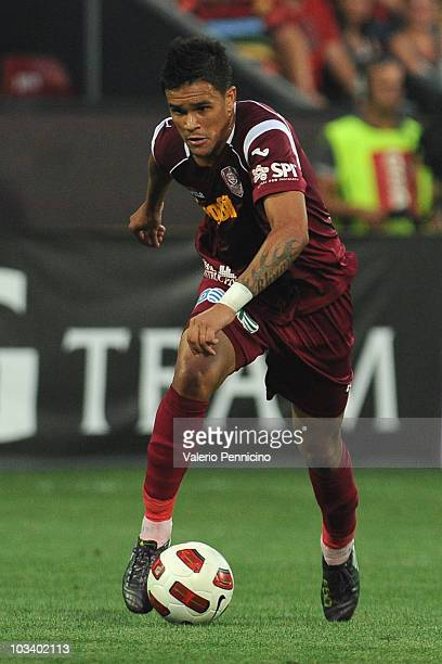 Rafael Bastos of CFR 1907 Cluj in action during the Liga 1 match between CFR 1907 Cluj and Astra Ploiesti at Constantin Radulescu Stadium on August...