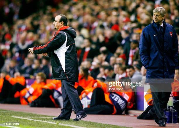 Rafael BENITEZ / Arsene WENGER Liverpool / arsenal 1/4 Finale Champions League 2007/2008