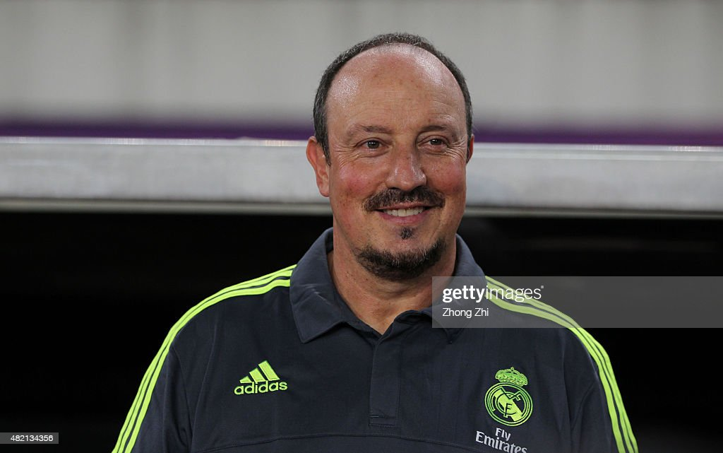 Rafael Benitez, coach of Real Madrid looks on during the match of International Champions Cup China 2015 between Real Madrid and FC Internazionale at Tianhe Stadium on July 27, 2015 in Guangzhou, China.