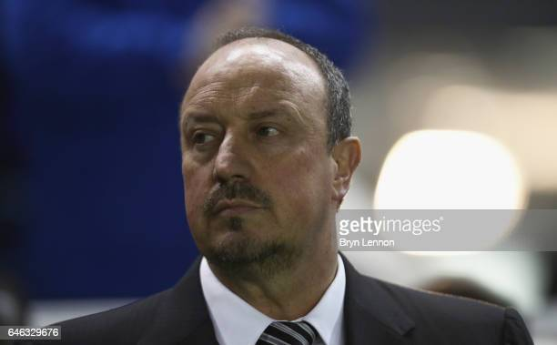 Rafael Benitez manager of Newcastle United looks on prior to the Sky Bet Championship match between Brighton Hove Albion and Newcastle United at Amex...