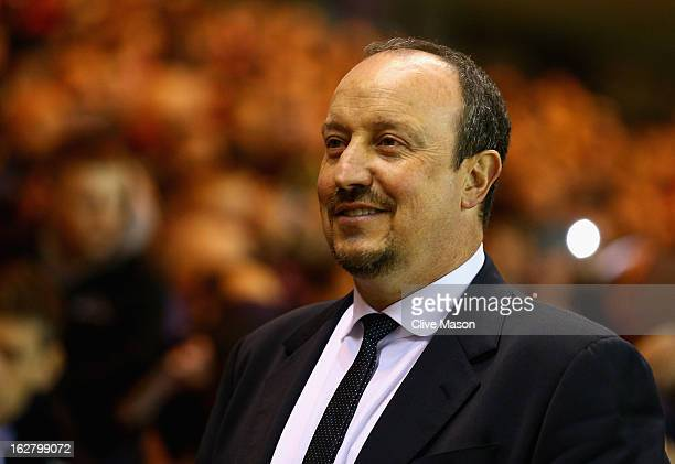 Rafael Benitez of Chelsea during the FA Cup with Budweiser Fifth Round match between Middlesbrough and Chelsea at Riverside Stadium on February 27...
