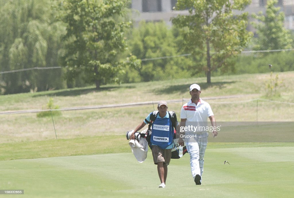 Rafael Campos walks during the opening day of the 107 Visa Golf Open presented by Peugeot as part of the PGA Latin America at Nordelta Golf Club on December 13, 2012 in Buenos Aires, Argentina.