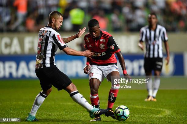 Rafael Carioca of Atletico MG and Vinicius Junior of Flamengo battle for the ball during a match between Atletico MG and Flamengo as part of...