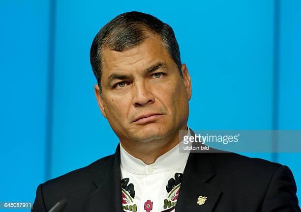 Rafael CORREA president of Ecuador during EUCELAC summit