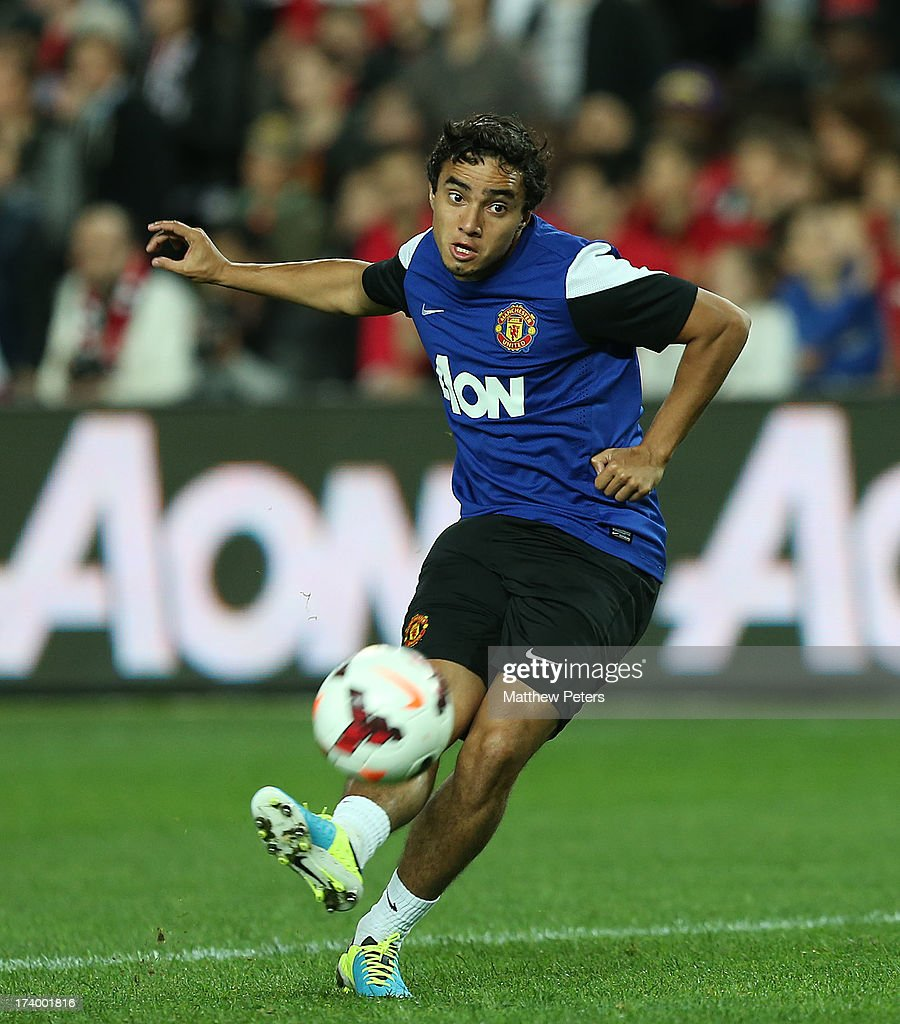 Rafael da Silva of Manchester United in action during a first team training session as part of their pre-season tour of Bangkok, Australia, China, Japan and Hong Kong on July 19, 2013 in Sydney, Australia.