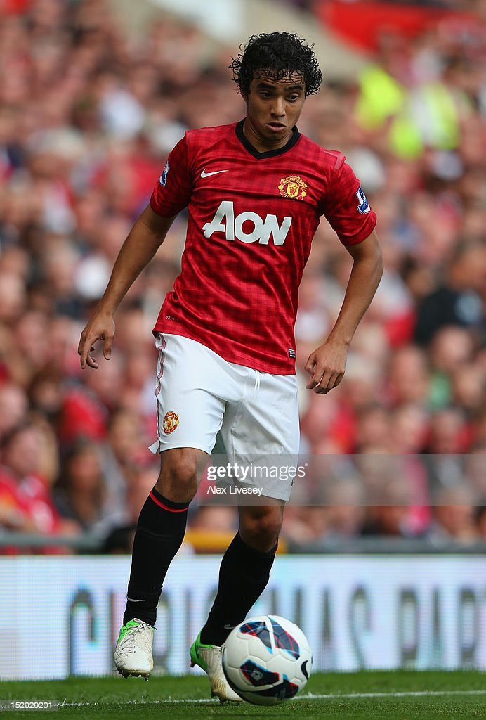 Rafael Da Silva of Manchester United in action during the Barclays Premier League match between Manchester United and Wigan Athletic at Old Trafford on September 15, 2012 in Manchester, England.