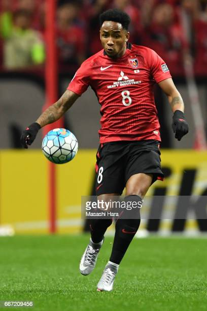 Rafael da Silva of Urawa Red Diamonds in action during the AFC Champions League Group F match between Urawa Red Diamonds and Shanghai SIPG FC at...