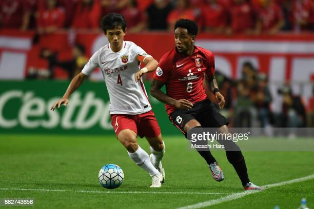 Rafael Da Silva of Urawa Red Diamonds in action during the AFC Champions League semi final second leg match between Urawa Red Diamonds and Shanghai...