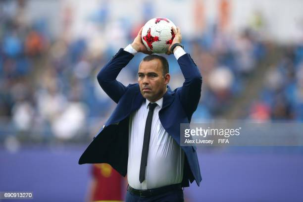 Rafael Dudamel the coach of Venezuela during the FIFA U20 World Cup Korea Republic 2017 Round of 16 match between Venezuela and Japan at Daejeon...