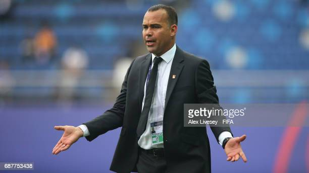 Rafael Dudamel the coach of Venezuela reacts during the FIFA U20 World Cup Korea Republic 2017 group B match between Venezuela and Vanuatu at Daejeon...