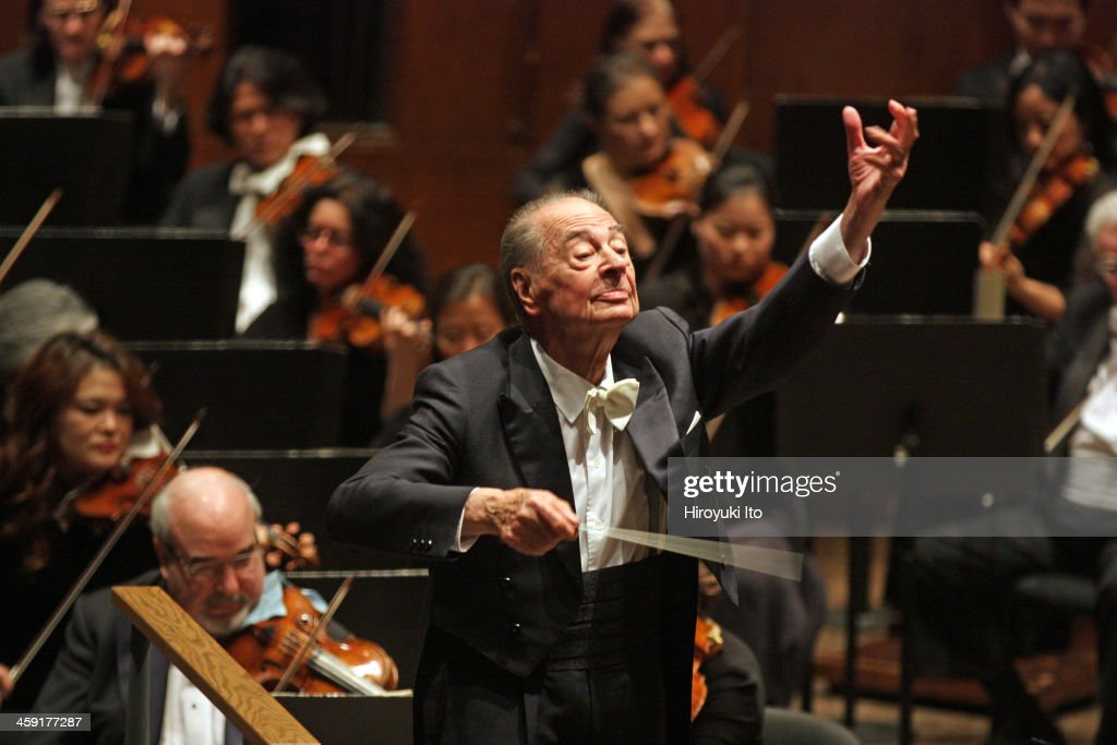 Rafael Frunbeck de Burgos leading the New York Philharmonic on Thursday night December 12 2013They performed the music of Beethoven and Strauss