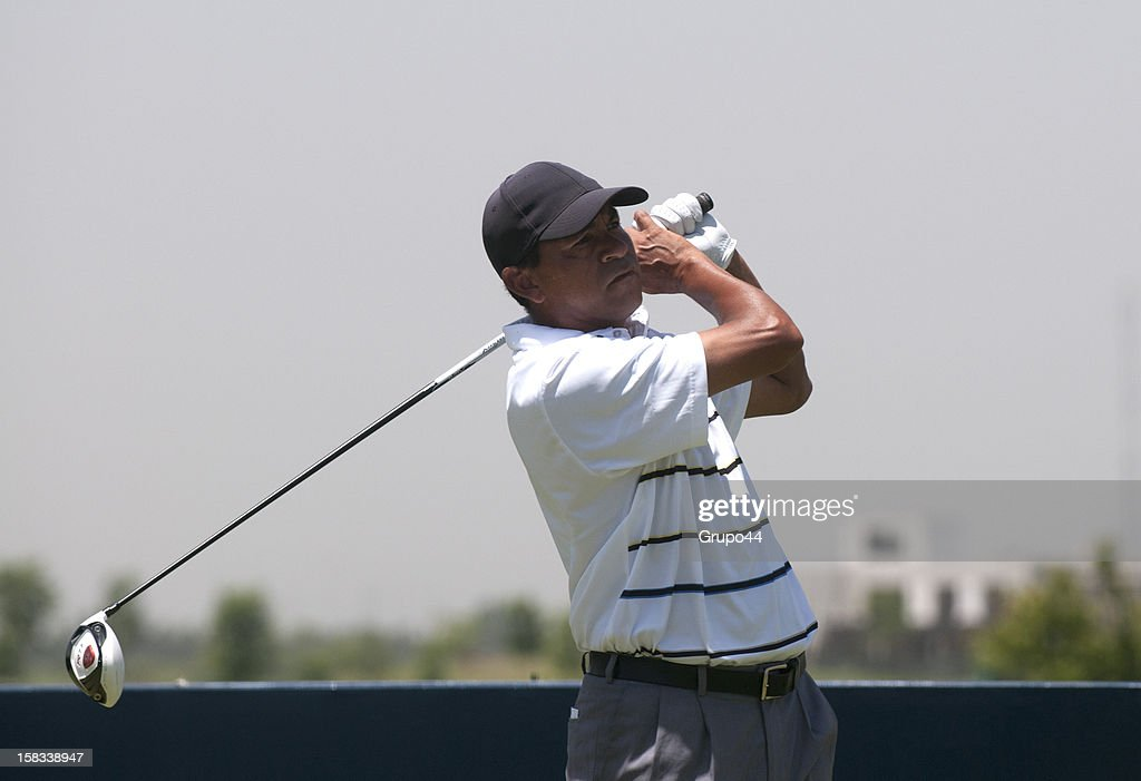 Rafael Gomez of Argentina plays a shot during the opening day of the 107 Visa Golf Open presented by Peugeot as part of the PGA Latin America at Nordelta Golf Club on December 13, 2012 in Buenos Aires, Argentina.