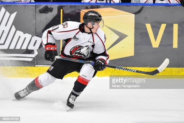 Rafael HarveyPinard of the RouynNoranda Huskies skates against the BlainvilleBoisbriand Armada during the QMJHL game at Centre d'Excellence Sports...