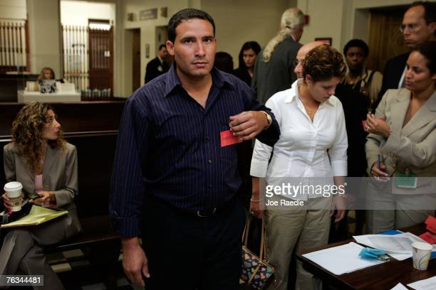 Rafael Izquierdo arrives for the start of a court hearing to determine who will gain custody of his 4yearold daughter August 27 2007 at in Miami...
