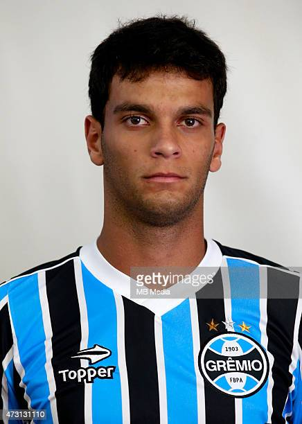 Rafael Marques of Gremio FootBall Porto Alegrense poses during a portrait session on August 14 2014 in Porto AlegreBrazil