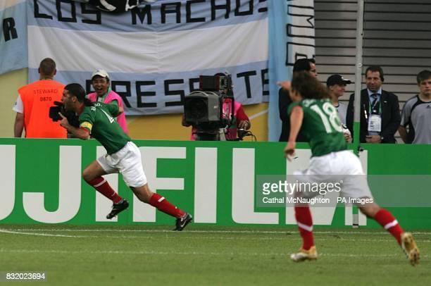 Rafael Marquez celebrates after scoring for Mexico