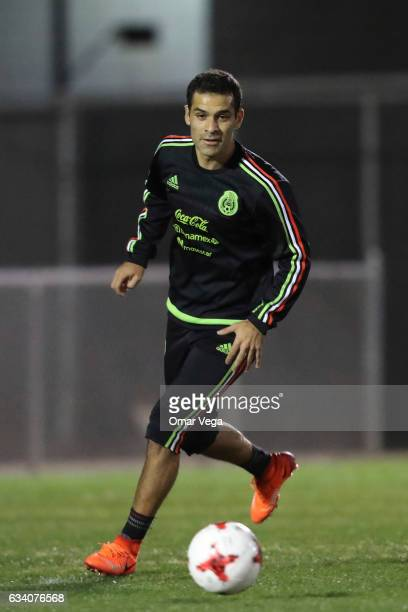 Rafael Marquez drives the ball during a training session at Peter Johann Memorial Field on February 06 2017 in Las Vegas United States