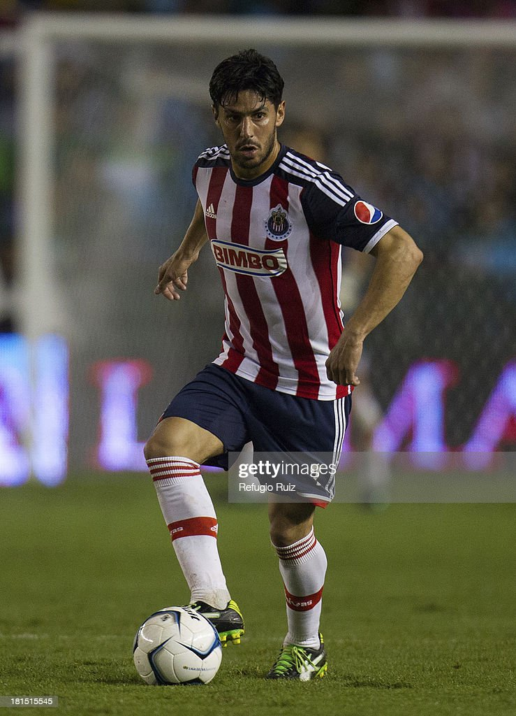 Rafael Marquez Lugo receives the ball during a match between Leon and Chivas as part of the Apertura 2013 Liga MX at Leon Stadium on September 21, 2013 in Leon, Mexico.