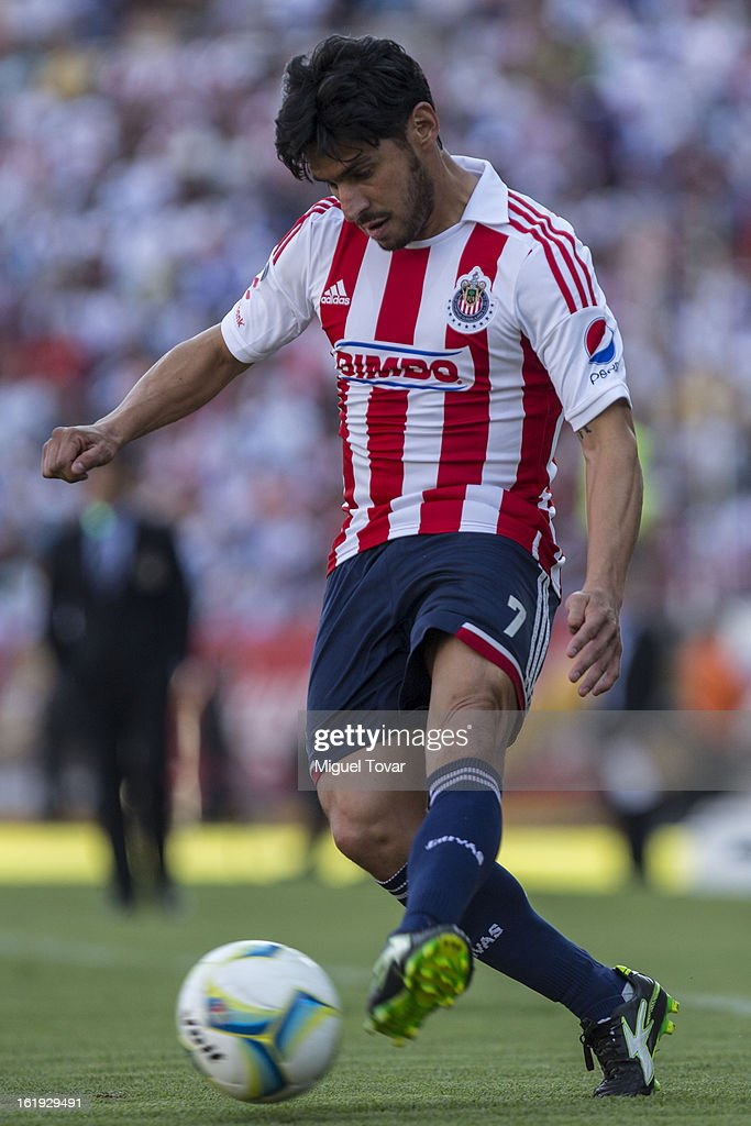 Rafael Marquez of Chivas controls the ball during a match between Puebla and Chivas as part of the Clausura 2013 at Cuauhtemoc Stadium on February 17, 2013 in Puebla, Mexico.