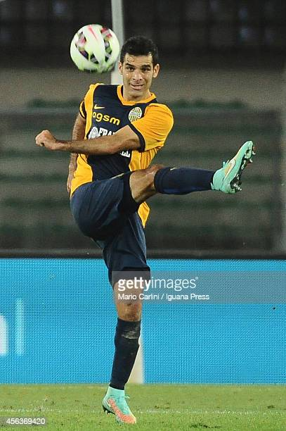 Rafael Marquez of Hellas Verona FC in action during the Serie A match between Hellas Verona FC and Genoa CFC at Stadio Marc'Antonio Bentegodi on...