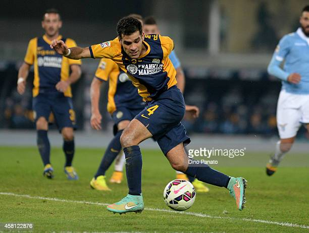 Rafael Marquez of Hellas Verona in action during the Serie A match between Hellas Verona FC and SS Lazio at Stadio Marc'Antonio Bentegodi on October...