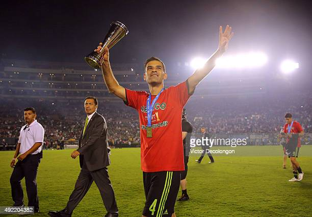 Rafael Marquez of Mexico acknowledges fans after Mexico defeated the United States 32 in the 2017 FIFA Confederations Cup Qualifying match at Rose...
