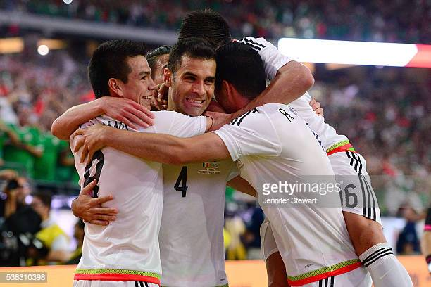Rafael Marquez of Mexico celebrates teammates after scoring a goal in the second half during the 2016 Copa America Centenario Group C match against...