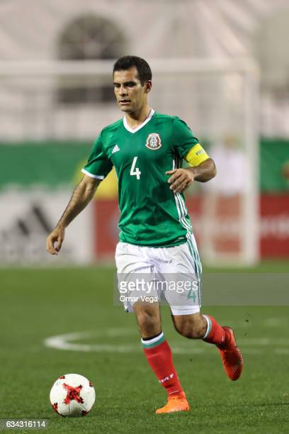 Rafael Marquez of Mexico drives the ball during an International Friendly match between Mexico and Iceland at Sam Boyd Stadium on February 08 2017 in...