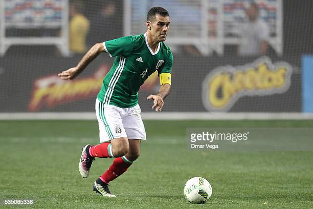 Rafael Marquez of Mexico drives the ball during the International Friendly between Mexico and Paraguay at Georgia Dome on May 28 2016 in Atlanta...